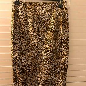 Zara leopard print pencil skirt